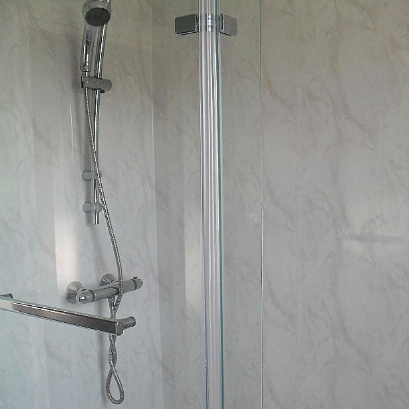 vicenza grey cladding1 - Vicenza - Grey Marble Bathroom Cladding 2.6m