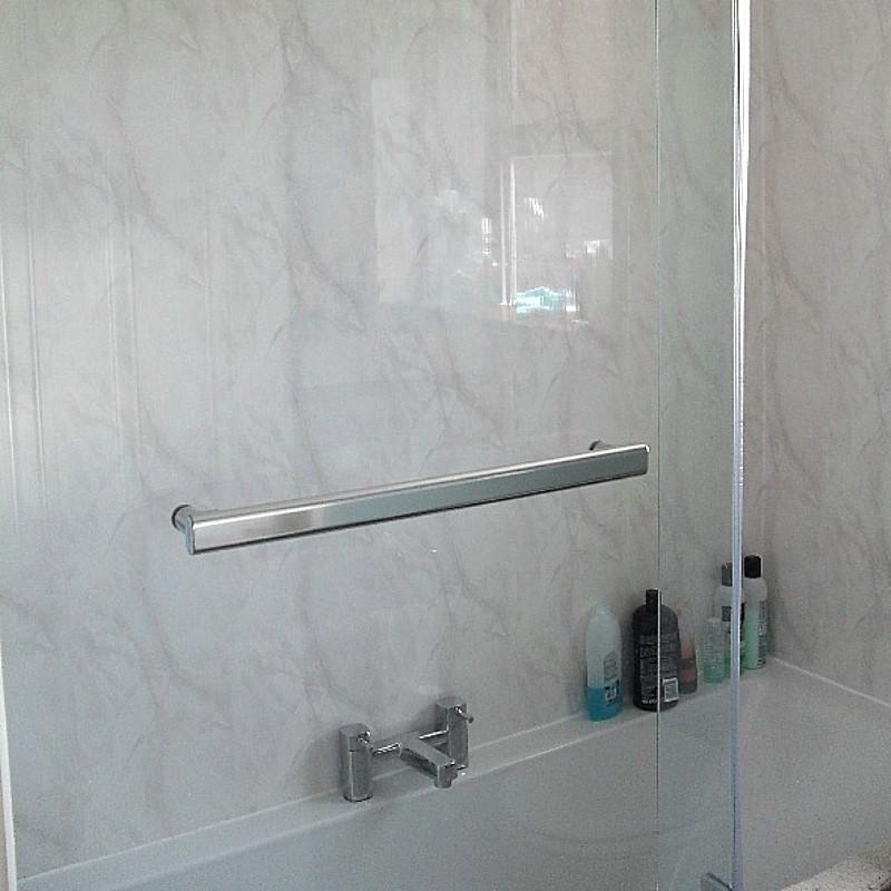 vicenza grey cladding2 - Vicenza - Grey Marble Bathroom Cladding 2.6m