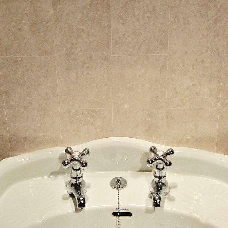florentine beige tile effect2 - Tile Effect Bathroom Wall Panels