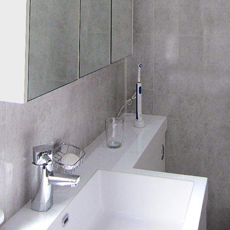 florentine grey tile effect2 - Vanity Units
