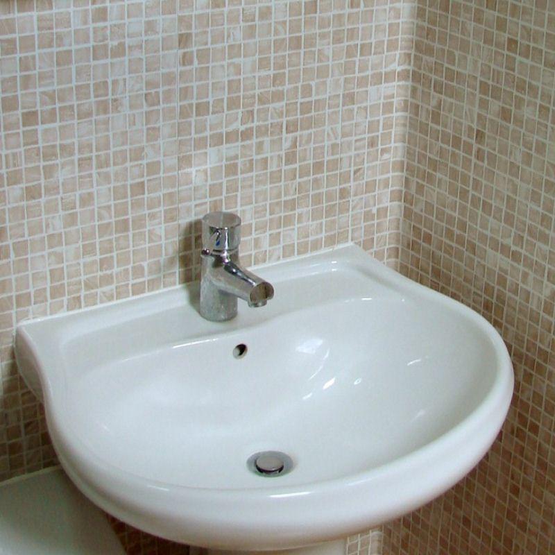 mosaic beige - Can You Bend Bathroom Cladding?