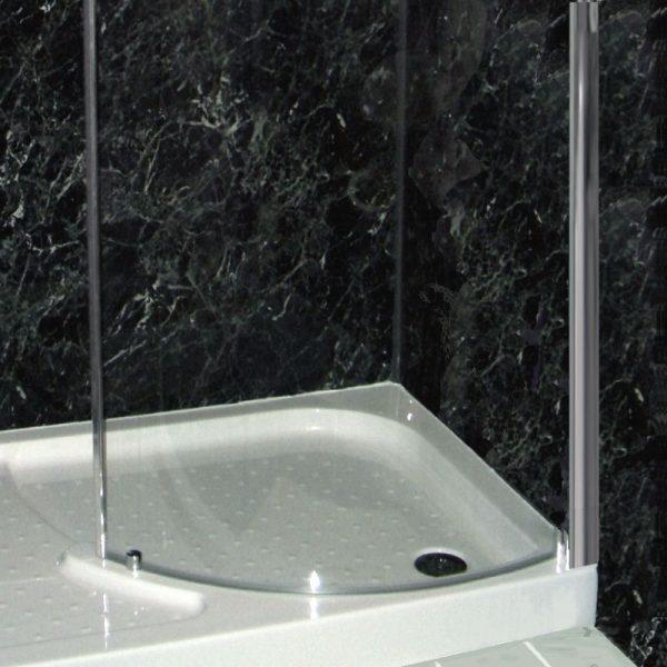 Neptune Black Marble Shower Wall Panels