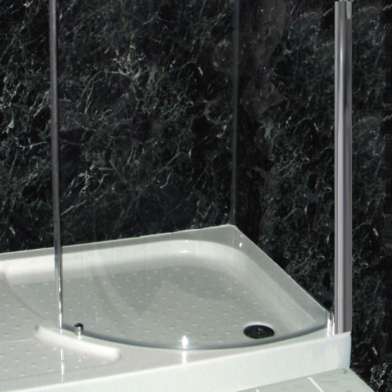 neptune black marble - Shower Wall Panels from The Bathroom Marquee
