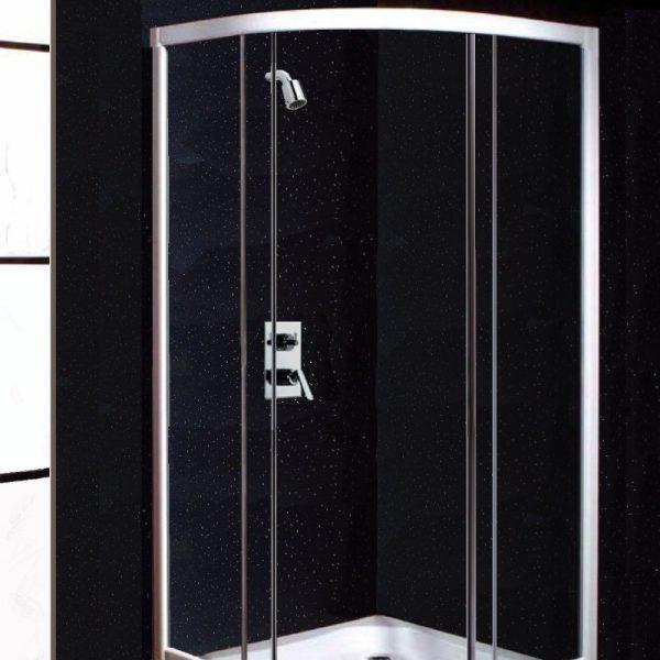 Neptune Black Sparkle Shower Panels