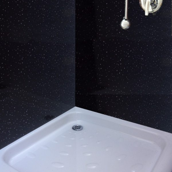neptune black sparkle2 600x600 - Neptune Black Sparkle Shower Panels