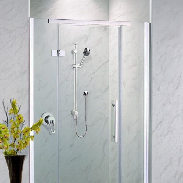 Neptune Grey Marble Shower Wall Panels