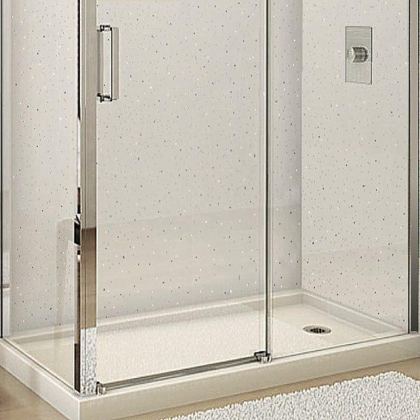 Neptune White Sparkle Shower Panels