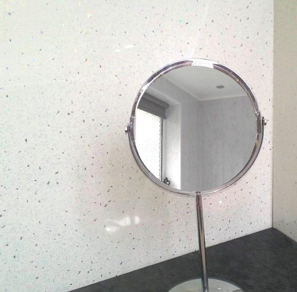 neptune white sparkle2 600x590 - Neptune White Sparkle Shower Panels