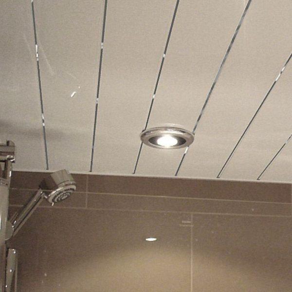 white chrome ceiling panels