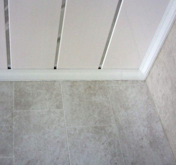 White Chrome Ceiling Panel