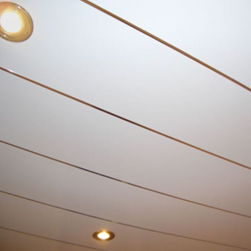 infill gold - Chrome Strip Ceiling Panels