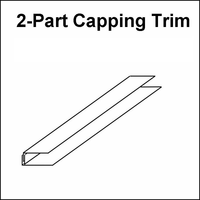 capping trim 2 part - Decos Capping Trim Black