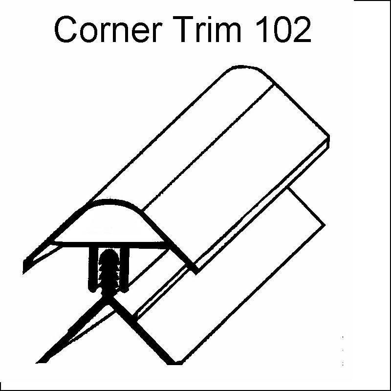 decos corner trim white102 - Decos Trims - White