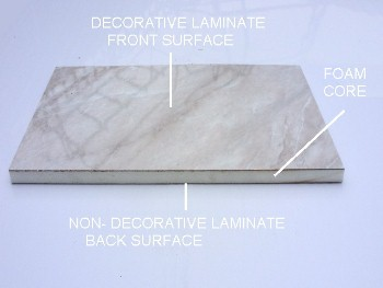 foam - Laminated Bathroom Wall Panels