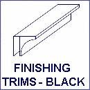 trims black130 - Vicenza White Ash Ceiling Panels 2.6m