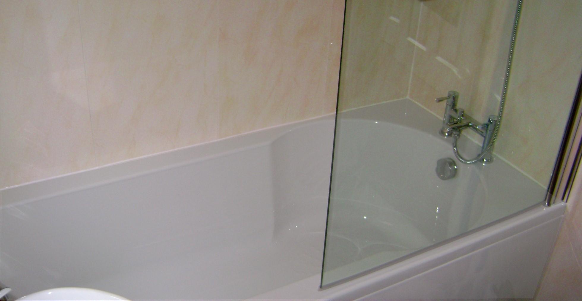 beige bathroom wall panels - Sealing A Bath Permanently