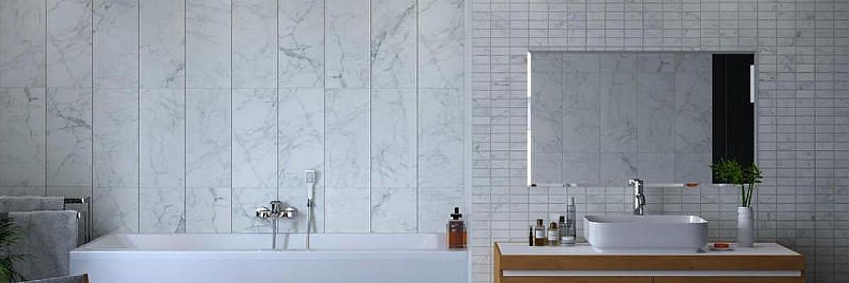mosaic effect bathroom wall panels - Bathroom Wall Panel Materials