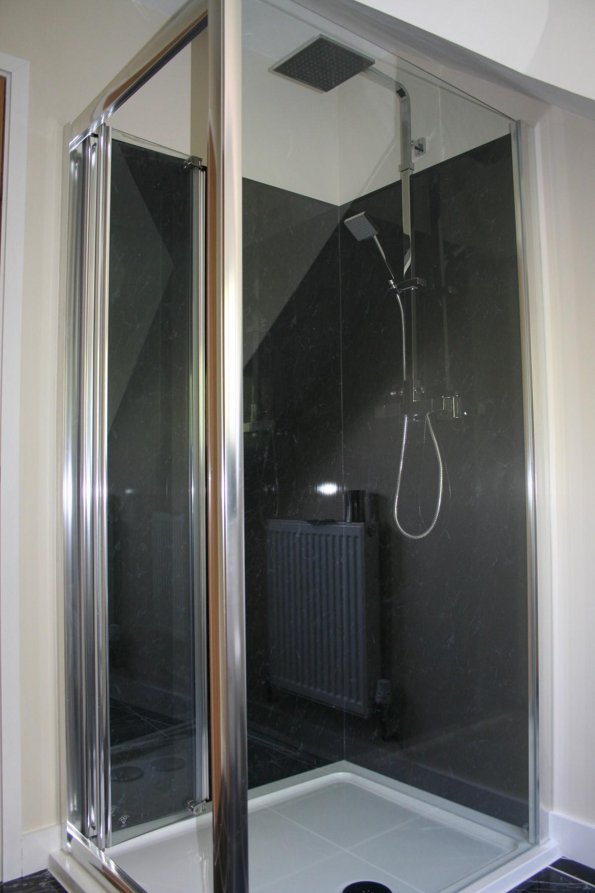 shower door corner - Shower Wall Lining