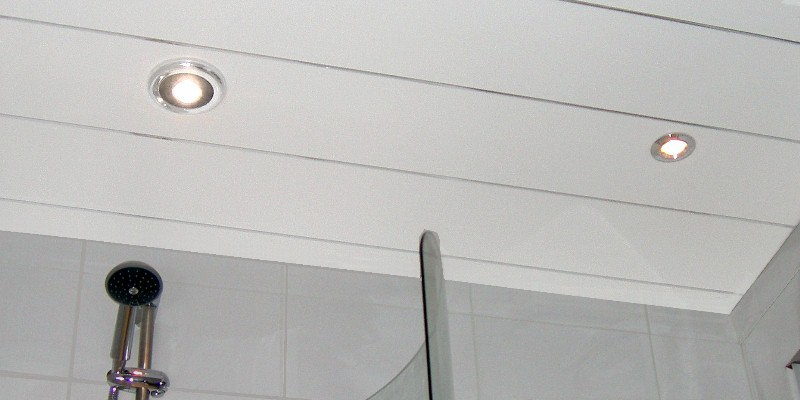 ceiling panels chrome strip - Easy To Fit Ceiling Panels