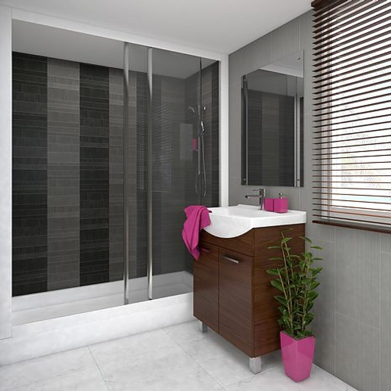 tile effect bathroom wall panels example3 - Mosaic Tiles In The Bathroom?