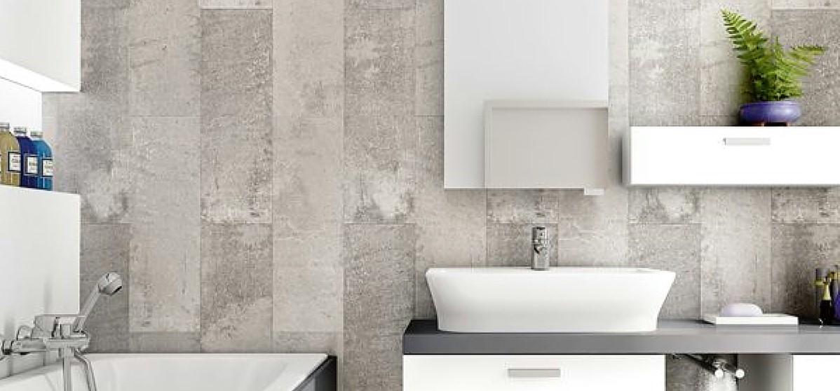 tile effect bathroom wall panels2 - Mosaic Tiles In The Bathroom?
