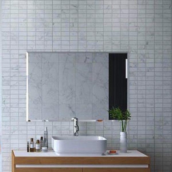 carrara mosaic effect bathroom wall panels