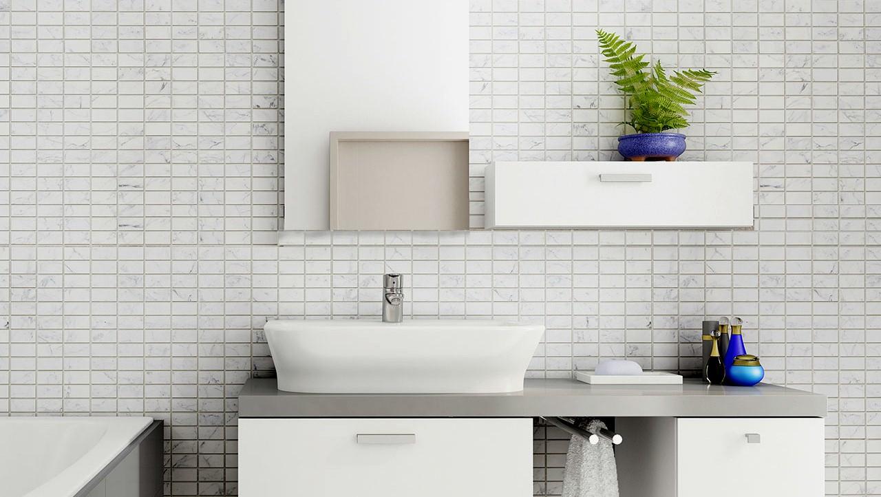 carrara4 - Mosaic Tiles In The Bathroom?