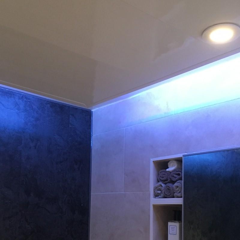 bathroom ceiling panel lighting1 - Bathroom Ceiling Panel Examples